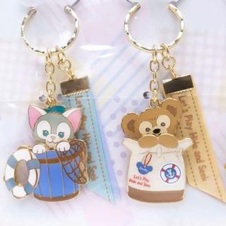 Disney - 新品★ダッフィー かくれんぼキーチェーン キーホルダー ジェラト-ニ(単品)