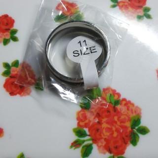 ファッションリング 黒しま新品 11号(リング(指輪))
