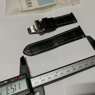 パネライ(PANERAI)の送料込 ブラック24mm用 Dバックルカーフ(レザーベルト)