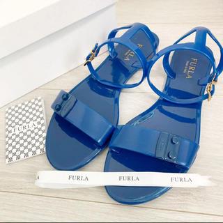 Furla - 新品!FURLA フルラ 24.5 イタリア製  キャンディサンダル ブルー