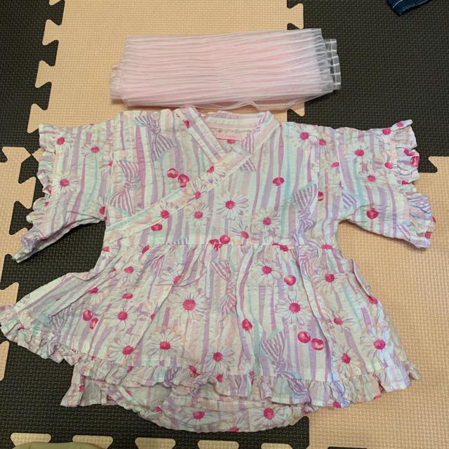 mezzo piano(メゾピアノ)のメゾピアノ 浴衣ロンパース キッズ/ベビー/マタニティのベビー服(~85cm)(甚平/浴衣)の商品写真