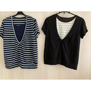 ベルメゾン(ベルメゾン)のベルメゾン 千趣会 授乳服 LL 2枚セット 半袖Tシャツ(マタニティトップス)