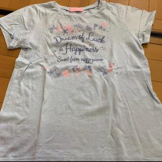 メゾピアノ(mezzo piano)のTシャツ 水色 160cm(Tシャツ/カットソー)