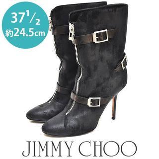ジミーチュウ(JIMMY CHOO)の美品❤ジミーチュー/ジミーチュウ 二連ベルト ブーツ 37 1/2(約24.5(ブーツ)