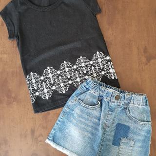 グローバルワーク(GLOBAL WORK)の【美品】GLOBAL WORK 女の子 スカート T-シャツ 2点セット 110(スカート)