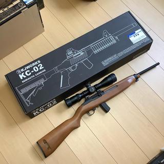 【美品】KJWorks KC-02 ホークアイ 木製ストック スコープ付き(ガスガン)