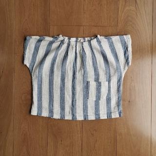 ボーダー半袖トップス 韓国子供服 (Tシャツ/カットソー)
