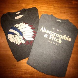 アバクロンビーアンドフィッチ(Abercrombie&Fitch)のアバクロ ロンT 2枚セット(Tシャツ/カットソー(七分/長袖))