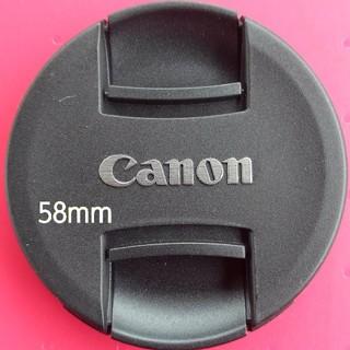 キヤノン(Canon)の【美品】Canon 58mmレンズキャップ キヤノン(その他)