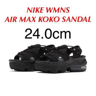 NIKE - ナイキ ウィメンズ エアマックス ココ サンダル ブラック 24.0cm
