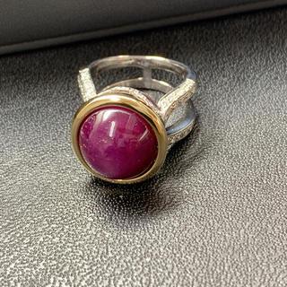 AREZZO wg/k18 ダイヤ スターサファイアリング(リング(指輪))