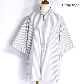 DANTON - 新品◇DANTONグレーストライプシャツ