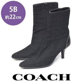 COACH - コーチ シグネチャー柄 ショートブーツ 5B(約22cm)