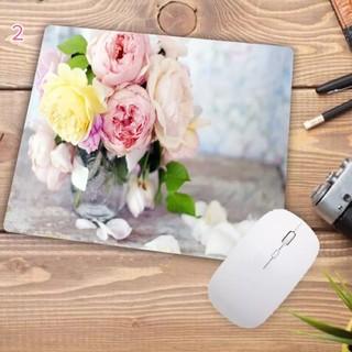 デスク周りのインテリア おしゃれなデザインのマウスパッド 花柄②