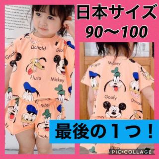 Disney - aqディズニー★オレンジ・110cm★セットアップ★韓国子供服★韓国こども服