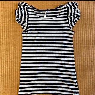アチャチュムムチャチャ(AHCAHCUM.muchacha)のあちゃちゅむ レディースサイズ ボーダー Tシャツ(Tシャツ(半袖/袖なし))