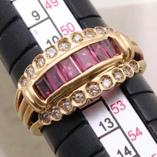 k18 ルビー ダイヤ リング(リング(指輪))