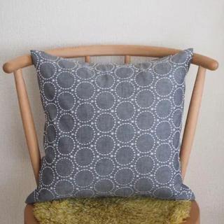 ミナペルホネン(mina perhonen)の北欧風 サークル ドット刺繍柄 クッションカバー(クッションカバー)