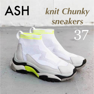 ASH - 超美品✱定3.9万✱ASH アッシュ✱ニットチャンキースニーカー✱ホワイト系