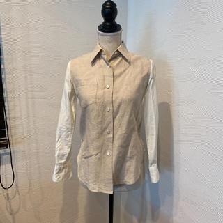 アッシュペーフランス(H.P.FRANCE)のH.P France バックレースシャツ(シャツ/ブラウス(長袖/七分))