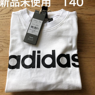 adidas - adidas アディダス Tシャツ ロゴ 140 白