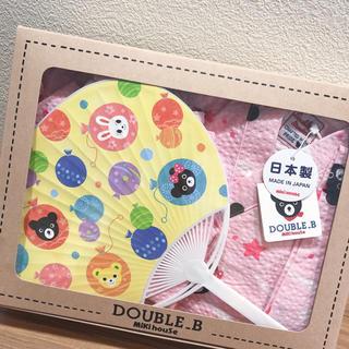 DOUBLE.B - 新品 DOUBLE_B  甚平 女の子 80