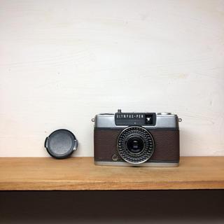 オリンパス(OLYMPUS)のOLYMPAS PEN EE-2【DARKBROWN】整備品、完動品、キャップ付(フィルムカメラ)