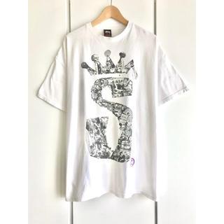 STUSSY - 【希少】STUSSY/ステューシー『クラウンSロゴ』レトロTシャツ/白/メンズL