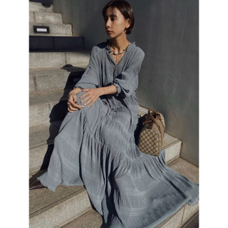 Ameri VINTAGE - Ameri VINTAGE SHIRRING PLEATS DRESS ミント