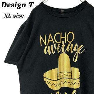 アンビル(Anvil)のUS 古着 ハット プリント 半袖 Tシャツ XLサイズ 黒(Tシャツ/カットソー(半袖/袖なし))