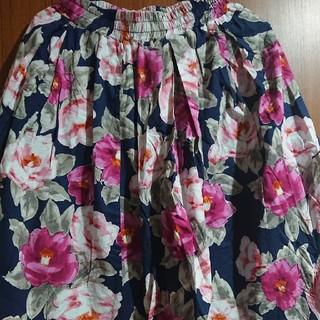シマムラ(しまむら)の花柄 膝丈 スカート(ひざ丈スカート)