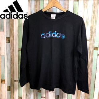 アディダス(adidas)のadidas カモ柄 迷彩ロゴロングTシャツ(Tシャツ/カットソー(七分/長袖))