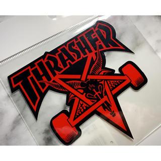 スラッシャー(THRASHER)のスラッシャー ステッカー(スケートボード)