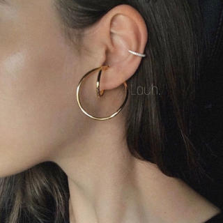 Edition - j191.forme hook ear cuff(gold)