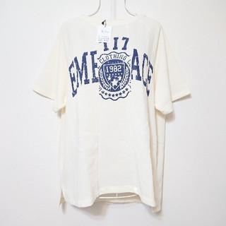 リメイク風カレッジプリントTシャツ