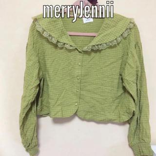 merry jenny - merryJennii セーラーブラウス 黄緑