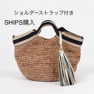 SHIPS - 新品 タグ付き ラフィアトートバッグ かごバック トートバッグ ヴィオラドーロ