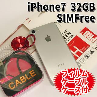 アップル(Apple)のiPhone7 SIMフリー 32GB 34 シルバー 電池交換済(スマートフォン本体)
