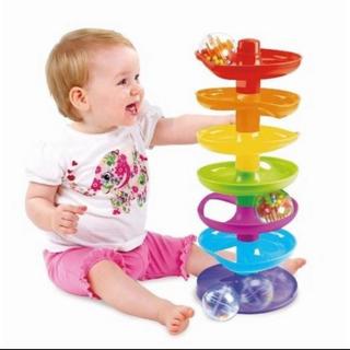 トイザらス - ベビーザらス ブルーイン ころころ スパイラルタワー 知育玩具 知育 おもちゃ