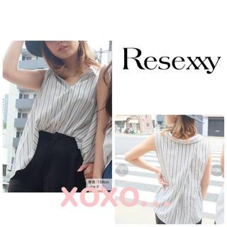 リゼクシー(RESEXXY)のRESEXXY ノースリーブバックスキッパーシャツ(シャツ/ブラウス(半袖/袖なし))