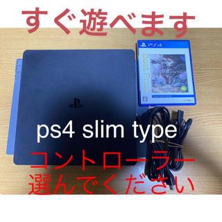 プレイステーション4(PlayStation4)のps4 美品 すぐ遊べます 即購入ok(家庭用ゲーム機本体)