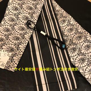 大人気‼️アール・デコ半幅帯➕組み紐トンボ玉付き激安(着物)
