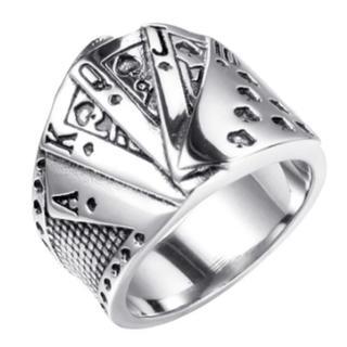 カーディシャン必須アイテム‼️トランプ指輪‼️内径20ミリ又は18ミリ(リング(指輪))