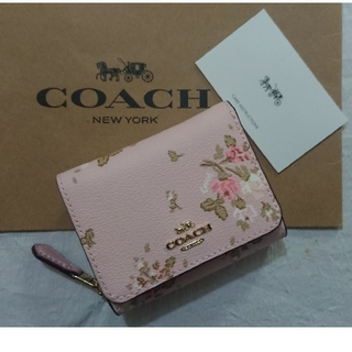 COACH - コーチ三つ折り財布   2020 春 最新作❗花柄 ブロッサム×マルチカラー