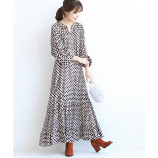 Spick and Span - 美品 Spick and Span Deveaux キカプリント ワンピース