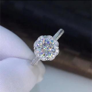 【newデザイン 】輝くモアサナイト ダイヤモンド リング(リング(指輪))