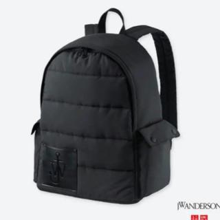 ユニクロ(UNIQLO)のユニクロ×JW アンダーソン バックパック(リュック)/ブラック 美品(バッグパック/リュック)
