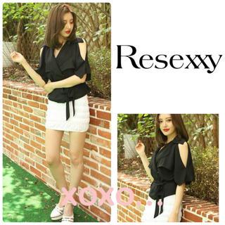 リゼクシー(RESEXXY)のRESEXXY 肩あきデザインシャツ(シャツ/ブラウス(半袖/袖なし))