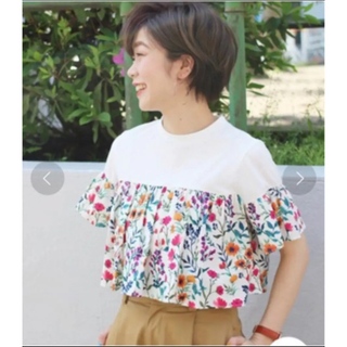 アイボリーコート(ivory court)の♡アイボリーコート 花柄フリルtシャツ♡(Tシャツ(半袖/袖なし))