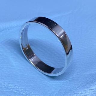 平打ち 細め シルバー925 リング  プレーン ワイド 幅広 銀 指輪(リング(指輪))